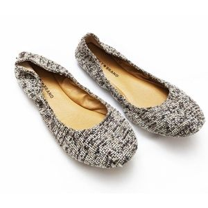 ⭐Lucky Brand | Tweed Grey/Black Emmie Flats